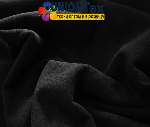 Кашемир стрейчевый черный (Турция, 570 GSM), фото 2