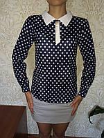 Нарядная блуза в горошек