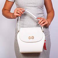 Белая женская сумочка оригинальная маленькая №1368