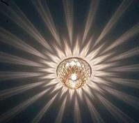 Светильник точечный  Feron JD187 прозрачный золото, фото 1