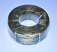 Кабель микрофонный стерео d2,8мм Sound Stream черный  7-0402  /бухта 100м