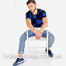 Мужские джинсы  Philipp Plein голубые с потертостями, фото 2