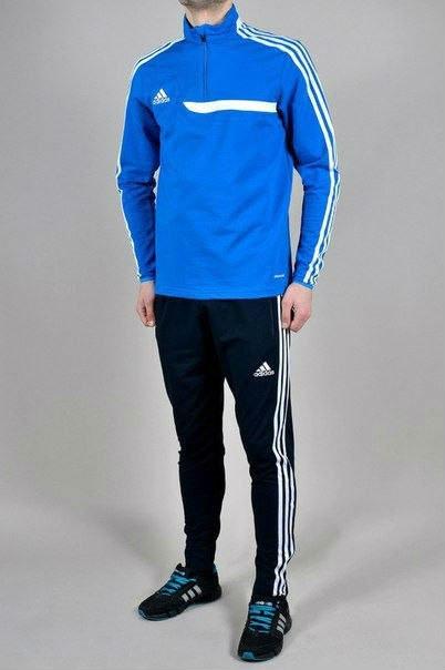 9b3005da Спортивный костюм мужской Adidas, футбольный стиль, зауженные штаны (три  варианта расцветки)