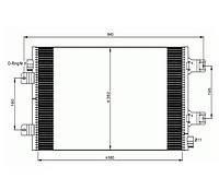 Радиатор кондиционера OPEL MOVANO 06-