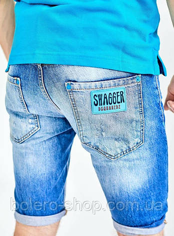 Джинсовые шорты мужские dsquared 30.32.33, фото 2