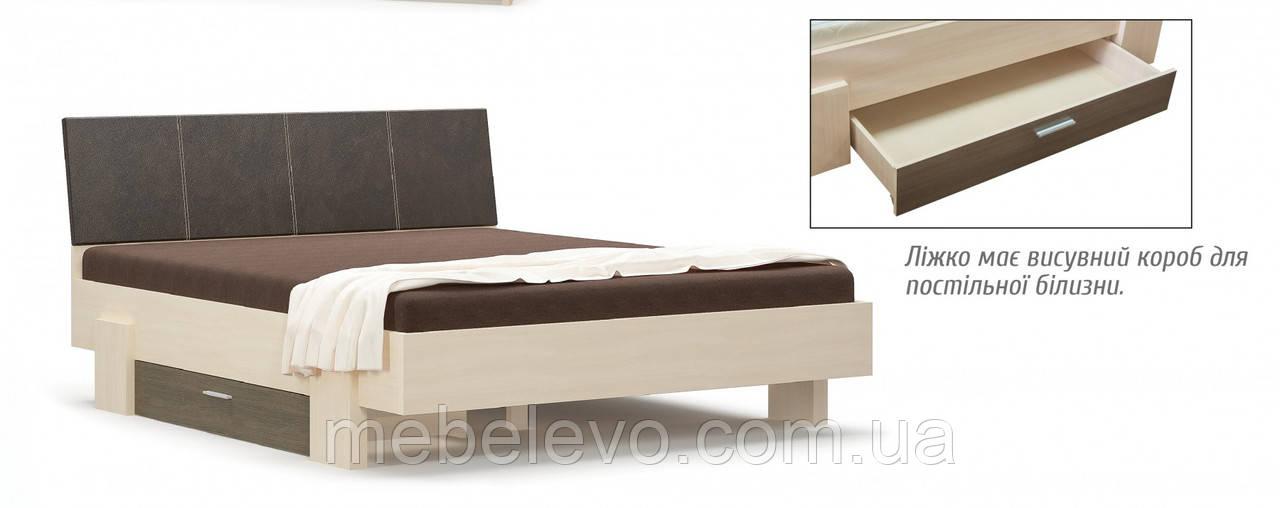 Кровать Кантри 160 923х2117х1716мм Дуб молочный   Мебель-Сервис
