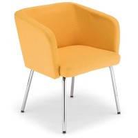 Кресло для зон ожидания Хеллоу Hello 4L chrome Новый Стиль