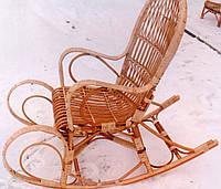 Кофейная удобная качалка плетеная