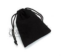 Подарочный мешочек черный бархатный. Упаковка