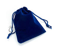 Подарочный мешочек синий бархатный. Упаковка