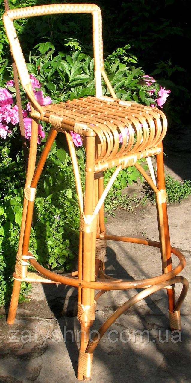 Барное кресло плетеное высокое