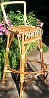 Барное кресло плетеное