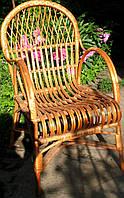 Кресло плетеное с удобной спинкой