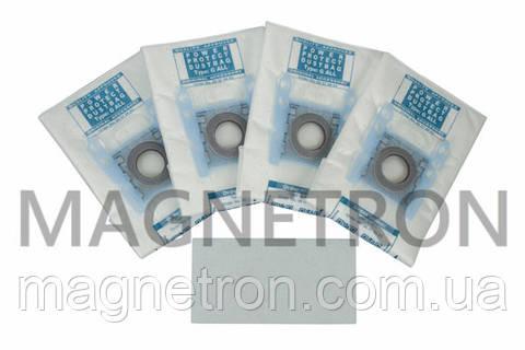 Комплект мешков (4шт) Type G ALL + фильтр BBZ41FGALL для пылесосов Bosch, Siemens 17000816 (576863)