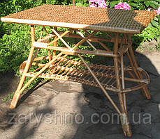 Стол плетеный из лозы большой