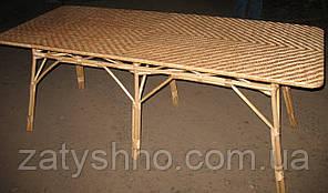 Стол из лозы плетеный длинный
