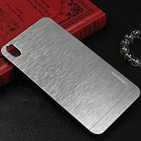 Чехол металлический Motomo Satin Metal для HTC Desire 816, 800 Silver