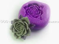Силиконовый молд - Роза №2 - 3,5 х 3,5 см