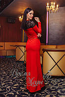 Женское красное вечернее платье. 4 цвета.