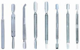 Пушер, лопатка, шабер, кюретка для ногтей