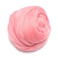 443 Шерсть для валяния Меринос Украина (23 микрон) светло-розовый