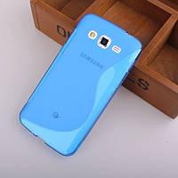 Силиконовый чехол Duotone для Samsung Galaxy Grand 2 Duos G7102 голубой