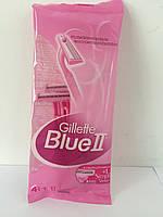 Верстат жіночий одноразовий для гоління Gillette Blue II Блю 2 5 шт. (4 Блю 2+1 Сімплі Венус з 3 лезами), фото 1