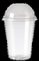 Стакан пластиковый с купольной крышкой 300мл