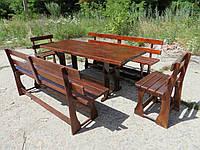 Садовая мебель (лавки, стулья, стол), Набор мебели, Дачная мебель, Садовые комплекты, Мебель для дачи., фото 1