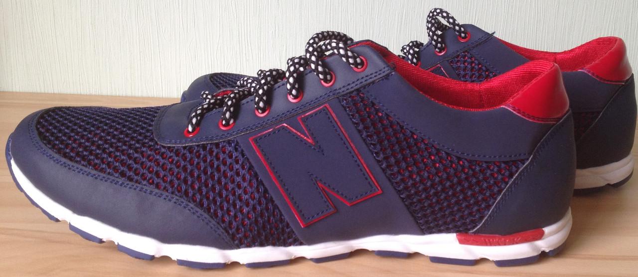 968e0486 ... New Balance синие мужские кроссовки в стиле NB сетка весна лето осень  обувь большого размера, ...