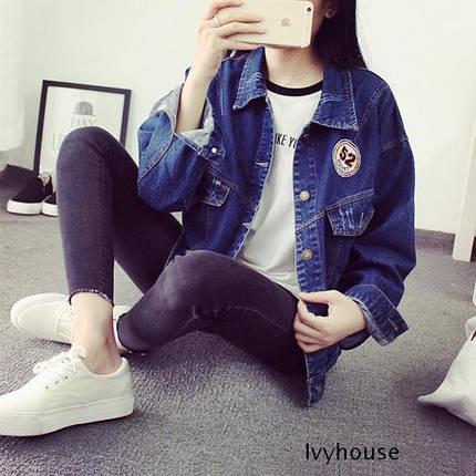 Жіноча джинсова курточка 58, фото 2