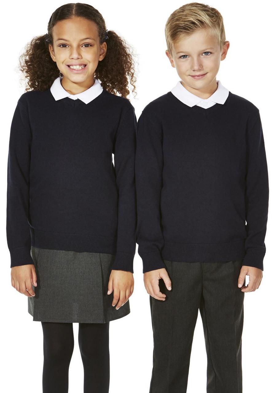 Школьный джемпер тёмно-синий на мальчика 5-6-7-8-9-10 лет George (Aнглия)