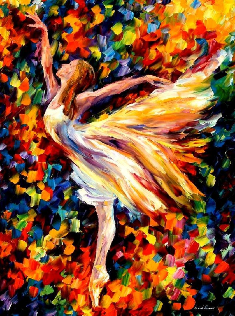 Картина по номерам «Идейка» (КН1019) В танце (Балерина) (Леонид Афремов), 40x50 см