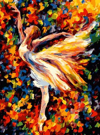Картина по номерам «Идейка» (КН1019) В танце (Балерина) (Леонид Афремов), 40x50 см, фото 2
