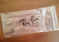 Прозрачный кулечек для очков Ray Ban с логотипом.