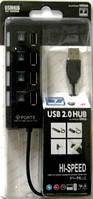 USB HUB на 4 порта чорный  F-244
