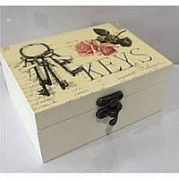 Шкатулка для бижутерии ключик, фото 1