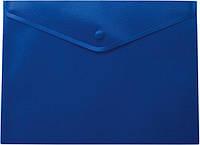 Папка-конверт А4 на кнопке синяя