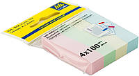 Закладки Buromax бумажные с клейким слоем 51x12мм 4 цв х100 листов BM.2306-99