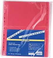 Файл для документов А4 40мкм, PROFEIONL, 100шт, красный