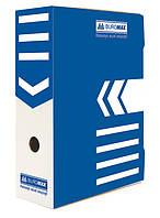 Бокс для архивации документов 100мм, синий