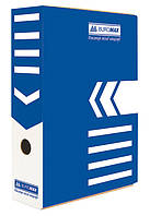 Бокс для архивации документов 80мм, синий