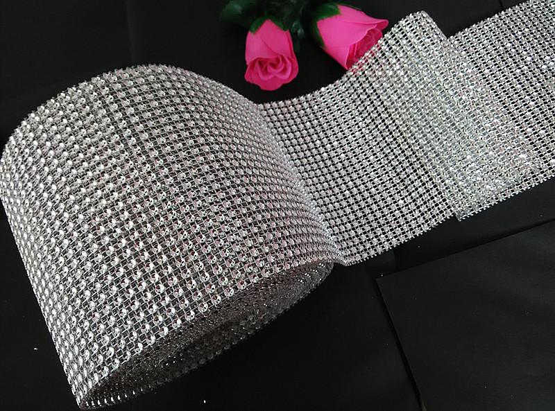 """Стрічка для декору """"Срібні камені"""" h-3 см"""