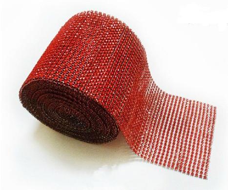 """Лента для декора """"Красные камни"""" h-3 см"""