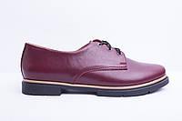 Туфли из натуральной бордовой кожи №303-6, фото 1