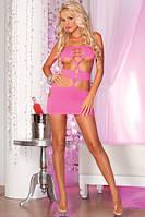 Pink Lipstick - Nocturnal seamless mini dress Pink