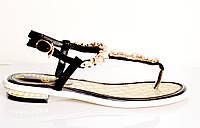 Босоножки женские Chanel золотые из натуральной кожи без каблука,брендовые босоножки