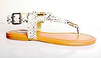 Босоножки женские Steve Madden рептилия бежевые из натуральной кожи без каблука,брендовые босоножки