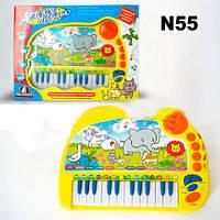 Музыкальный разв.орган Всезнайка n55 (461945)(18)батар,8мелод,голоса живот,муз.инструм,запись,кор40*30*6