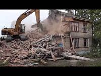 Демонтаж старых домов (ручная разборка конструкций+механизированный снос